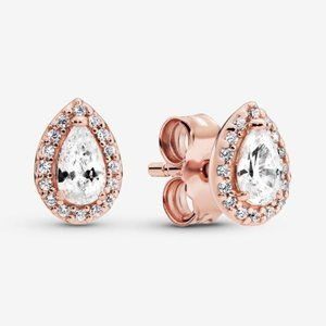 Pandora Teardrop Halo Stud Earrings